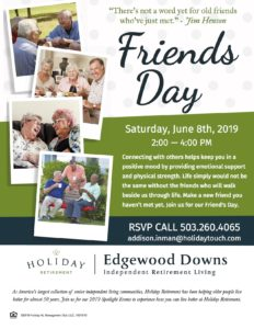 Friends Day @ Edgewood Downs