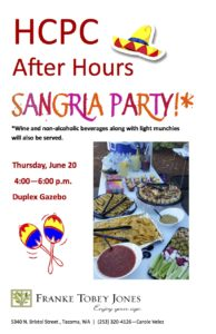 HCPC After Hours Sangria Party @ Franke Tobey Jones