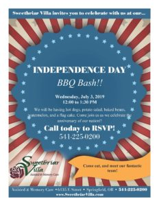 Independence Day BBQ Bash! @ Sweetbriar Villa Assisted & Memory Care Living