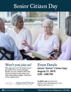 Senior Citizen Day @ Edgewood Downs