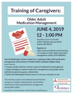 Training of Caregivers: Older Adult Management @ Meridian Center for Health