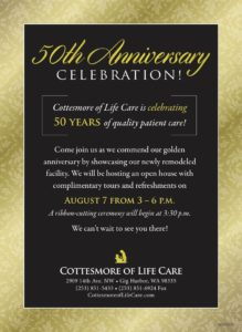 50th Anniversary Celebration @ Cottesmore of Life Care