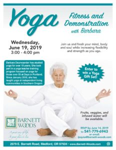 Yoga Fitness Demonstration with Barbara @ Barnett Woods