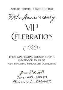 30th Anniversary VIP Celebration @ Narrows Glen