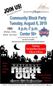 National Night Out Community Block Party @ Center 50+