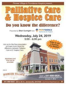 Palliative Care & Hospice Care - Do you know the difference? @ Pioneer Village