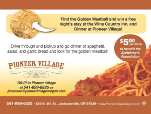 Grab & Go - Spaghetti Dinner @ Pioneer Village