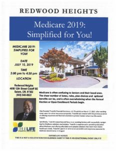 Medicare 2019 Simplified @ Redwood Heights