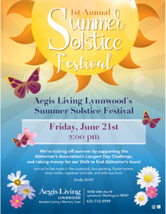 """The Longest Day"" Summer Solstice of Lynnwood @ Aegis of Lynnwood"