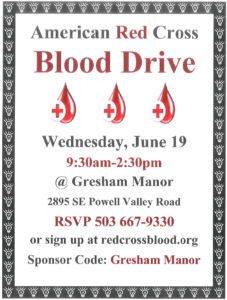 American Red Cross Blood Drive @ Gresham Manor