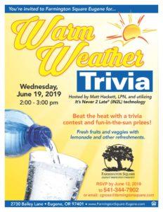 Warm Weather Trivia @ Farmington Square Eugene