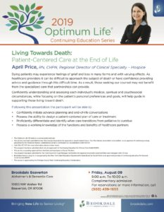 Optimum Life 2019 Educational Series @ Brookdale Beaverton