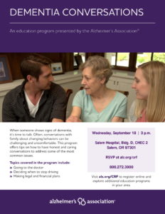 Dementia Conversations @ Salem Hospital, Bldg. D, CHEC 2