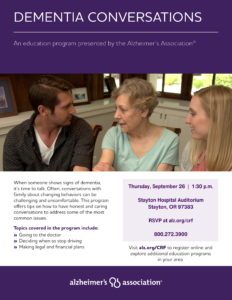 Dementia Conversations @ Stayton Hospital Auditorium