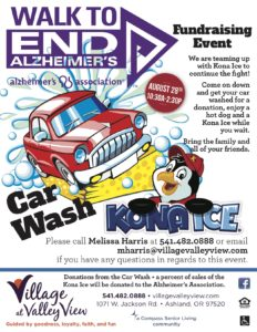Alzheimer's Association - Fundraiser Event (Car Wash) @ Village at Valley View