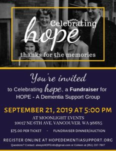 Celebrating HOPE, Thanks for the Memories @ Moonlight Events