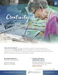 Creativity Has No Age Limit @ Brookdale Beaverton