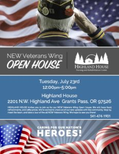 Highland Open House of New Veterans Wing @ Highland House
