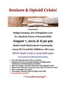 Seniors & The Opioid Crisis @ Rock Creek Retirement Residence