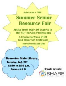 SHARE Resource Fair @ Beaverton Main Library