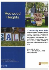 Community Yard Sale at Redwood Heights @ Redwood Heights