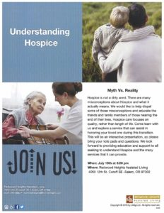 Understanding Hospice: Myth vs. Reality @ Redwood Heights