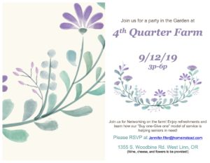 Party in the Garden at 4th Quarter Farm @ 4th Quarter Farm