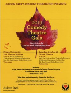 2019 Comedy Theatre Gala - Live Theatre Matinee @ Judson Park