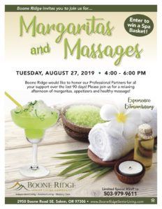 Margaritas and Massages @ Boone Ridge Senior Living Community
