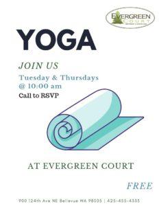 Yoga at Evergreen Court @ Evergreen Court