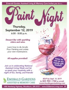 Paint Night! @ Emerald Garden Senior Living