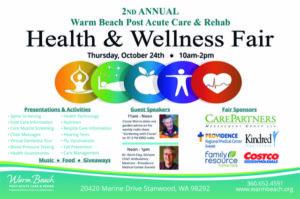 2nd Annual Health & Wellness Fair @ Warm Beach Post Acute Care & Rehab