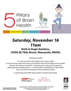 5 Pillars of Brain Health @ Aegis Gardens New Castle