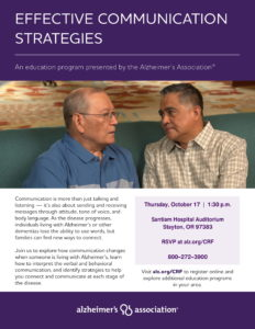 Effective Communication Strategies @ Santiam Hospital Auditorium
