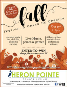 Fall Festival and Grand Re-Opening @ Heron Pointe Senior Living