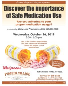 Discover the Importance of Safe Medication Use @ Pioneer Village