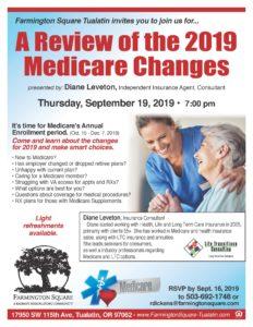 A Review of the 2019 Medicare Changes @ Farmington Square Tualatin