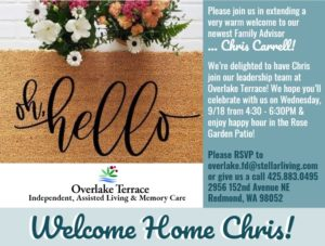 Wined Down Wednesday Mixer welcoming Chris Carrell to Overlake Terrace! @ Overlake Terrace
