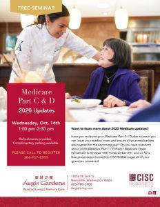 Medicare Part C & D 2020 Updates @ Aegis Gardens New Castle