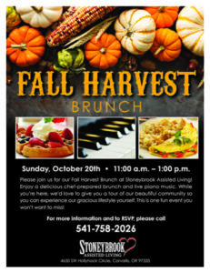 Fall Harvest Brunch @ Stoneybrook Assisted Living