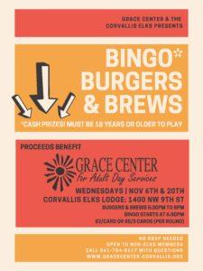 Bingo, Burgers, & Brews @ Corvallis Elks Lodge
