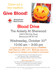 Blood Drive @ The Ackerly at Sherwood