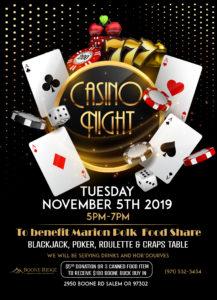 Casino Night at Boone Ridge to Benefit Marion Polk Food Share @ Boone Ridge Senior Living