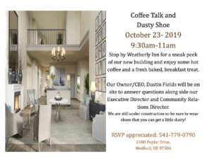 Weatherly Inn Coffee Talk and Dusty Shoe @ Weatherly Inn