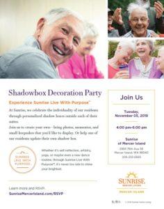 Shadowbox Decoration Party @ Sunrise of Mercer Island