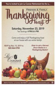 Thanksgiving Friends & Family Feast @ La Conner Retirement Inn
