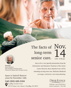 The Facts of Long Term Senior Care @ Puyallup Activity Center