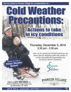 Cold Weather Precautions: Actions to Take in Icy Conditions @ Pioneer Village