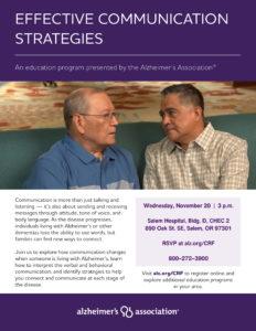 Effective Communication Strategies @ Salem Hospital, Bldg D, CHEC 2