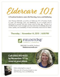 Eldercare 101: A Practical Guide to Later Life Planning, Care, and Wellbeing @ Fieldstone Cornell Landing